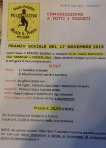 PRANZO SOCIALE 2019 @ Crespellano (BO) | Crespellano | Emilia-Romagna | Italia